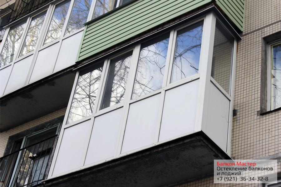 Теплое остекление от пола до потолка.Пластиковое остекленение балкона от пола до потолка в Санкт-Петербурге. Двухкамерные стеклопакеты, утолщенный пластиковый сэндвич