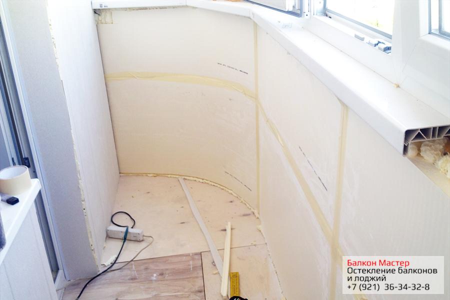 Остекление и отделка лоджии,балкона в 137 серии дома в санкт.