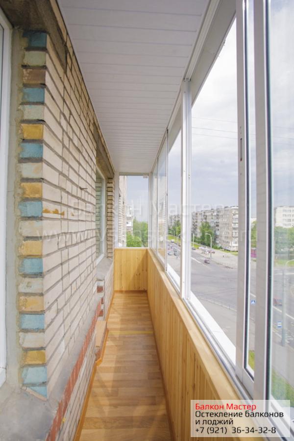 Остекление балконов в серии дома точка 9,12,14 этажей в санк.