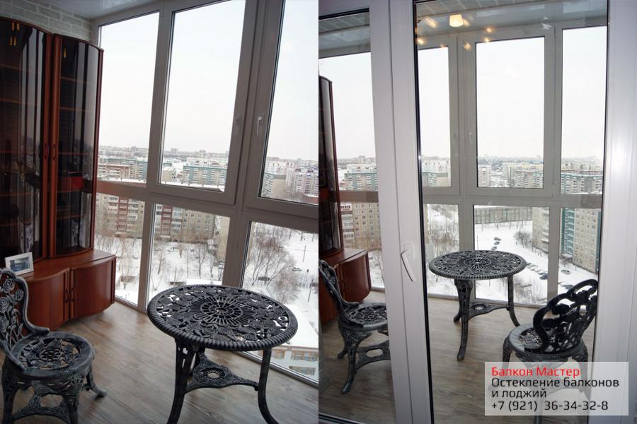 Теплое остекление от пола до потолка.Преобразили балкон в уютную комнату с помощью панорамного металлопластикового остекления от пола до потолка
