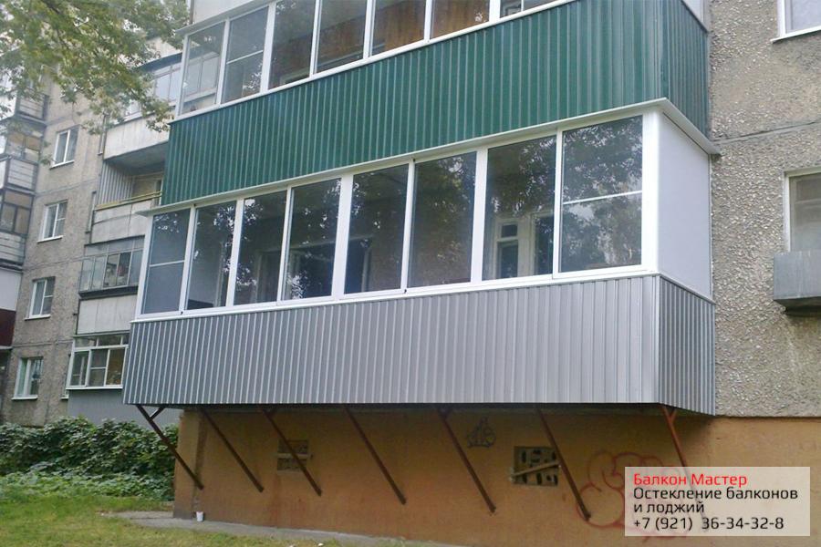 Фото алюминиевого остекления балкона. галерея фотографий хол.