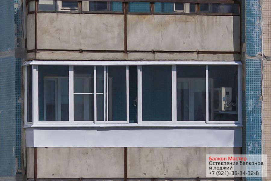 Остекление балконов и лоджий в СанктПетербурге от 17000 руб
