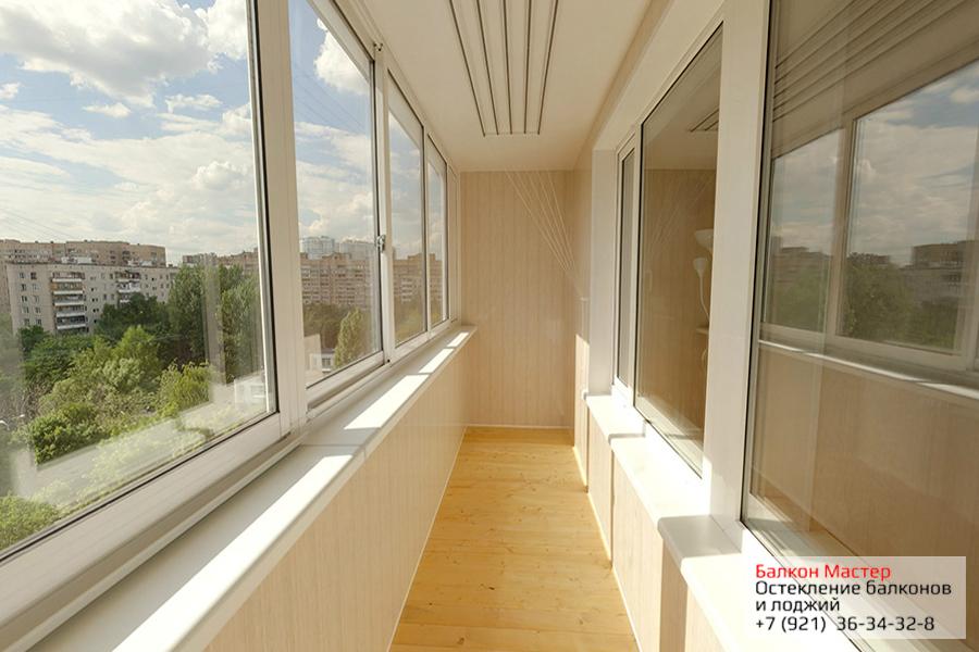 Застеклить балкон спб недорого цены