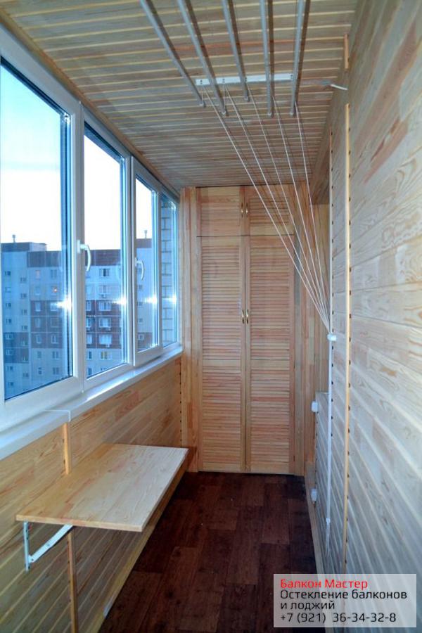Фото отделки балконов,лоджий в санкт-петербурге.
